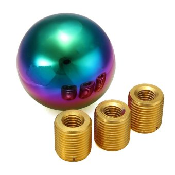 Heavy Weighted Round Ball Polish Neo Chrome Shifter Lever Shift Knob - intl - 2