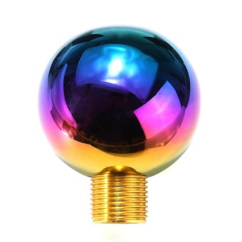 Heavy Weighted Round Ball Polish Neo Chrome Shifter Lever Shift Knob - intl - 5