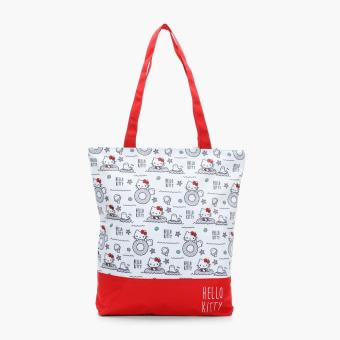 Hello Kitty Girls Seal And Clam Tote Bag (Red)