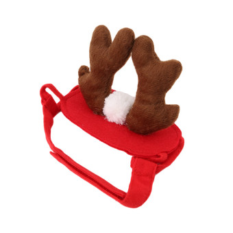 HengSong Elk Pet Dog Costume Cap Hat Puppy Teddy Animal ChristmasCosplay Decor - 3
