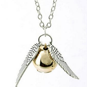 HengSong Harry Potter Golden Snitch Quicksilver Golden PearlNecklace Fairy Jewelry - Intl Price Philippines