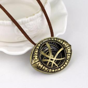 Hequ New Chic Eye of Agamotto Amulet Men Antique Bronze NecklacePendant Bronze - intl
