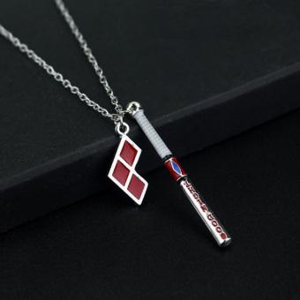 Hequ New Suicide Squad Harley Quinn Baseball Bat Pendant NecklaceWomen And Men Jewelry - Intl - 3