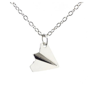 Hequ Simple One Direction Smooth Comfy Paper Airplane Chain PendantNecklace Price Philippines