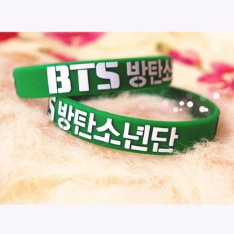 Hequ Youpop Wholesale KPOP Fan BTS Bangtan Boys Bulletproof Boy 3DSport Silicone Friendship Boys and Girls - intl Price Philippines