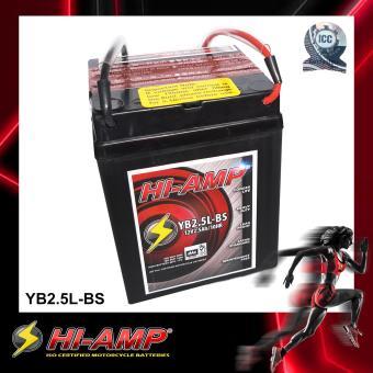 HI-AMP ICC Certified Japan Std MF Motorcycle Battery YB2.5L-BS.