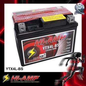 HI-AMP ICC Certified Japan Std MF Motorcycle Battery YTX4L-BS.