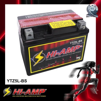 HI-AMP ICC Certified Japan Std MF Motorcycle Battery YTZ5S-BS.