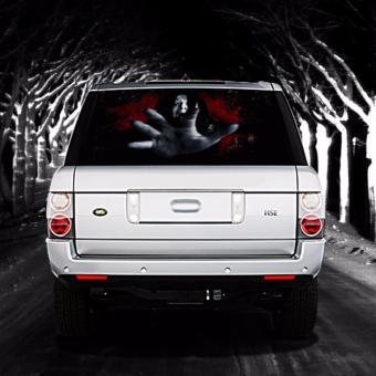 High Beam Scary Car Tint Rear Window Sticker DT Black Lazada PH - Car rear window stickers