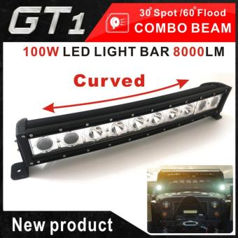 High brightness ! 20 inch 100W COMBO beam curved led work light barfor offroad truck 4X4 SUV F150 LAMPS 12V 24V ATV UTE - intl Price Philippines