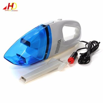 High-Power Portable Car Vacuum Cleaner (White/Blue)