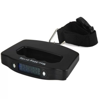 HIGH Quality 50kg Capacity Electronic Digital Light-Weight PortableTravel Luggage Scale BLACK