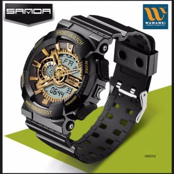 High Quality SANDA 799 Multifunctional Sports NoctilucentWaterproof Shockproof Electronic Watch Men