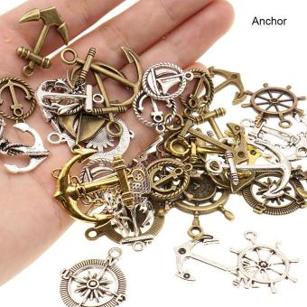 High Quality Store New 100g Vintage Metal Mixed Anchor Rudder LoveHeart Charms Pendant Sets for DIY Jewelry Anchor Price Philippines