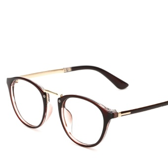 HINDFIELD 2017 Fashion Pink Round Glasses Frame For Women Brand Fashion Unisex Eye glasses Frames for Men Plain glasses LS-CJ2206 - intl