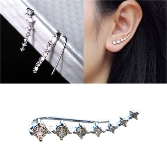 HKS 1 Pair Fashion Arc-shaped Ear Hook Azorite Ear Clip Earring - Intl - picture 2