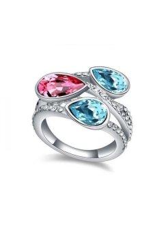 HKS Exquisite Beauty Austria Crystal Ring (Ocean Blue) - Intl