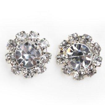 HKS Exquisite Women Shiny Zircon Sun Flower Studs Earrings Fashion Jewelry - Intl