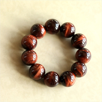 HKS Genuine natural red tiger eye Tiger Eye Bracelet male Ms. Lucky eye bracelet crystal jewelry bracelets - beads diameter 12mm - Intl