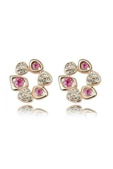 HKS HKS1773QS Love Plus Crystal Earrings Rose Red Rose Gold - Intl - picture 2