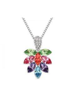 HKS HKS2863Qs Ice Flower Austria Crystal Necklace Color - Intl