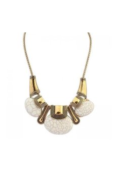 HKS HKS9504QZ Necklace White - Intl