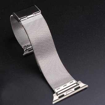 HKS New Strap Bracelet Band Metal Replacement for Apple Watch Silver 38mm - Intl