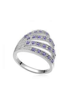 HKS S and F Love Mambo Austria Crystal Ring (Violet) - Intl
