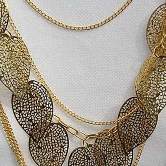 HKS Vintage Leaf Pendant Multi-layer Necklace Long Sweater Chain for Lady Gold - Intl - picture 2