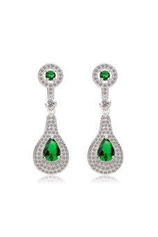 HKS Yun Xiu Earrings (Green/Silver) - Intl