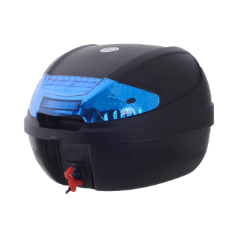 HNJ 002 Tail Trunk Luggage Motorcycle/Scooter Top Box -(Black/Blue)