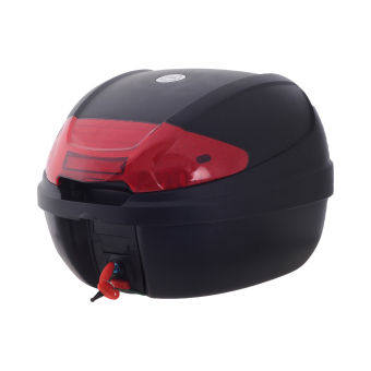 HNJ 002 Tail Trunk Luggage Motorcycle/Scooter Top Box-(Black/Red)