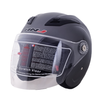 HNJ 518 Open Face Safe and Convenient Motorcycle Helmet-(Grey)