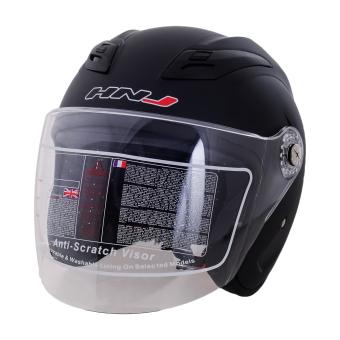HNJ 518 Open Face Safe and Convenient Motorcycle Helmet-(MatteBlack)