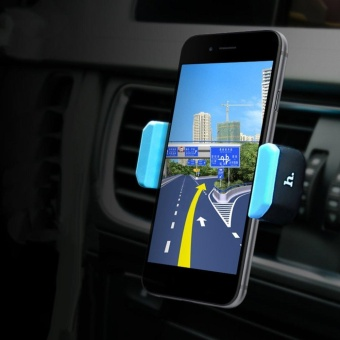 HOCO CPH01 Car Air Outlet Vent Mount Mobile Phone Holder Clip Clamp Bracket Black & Blue - intl