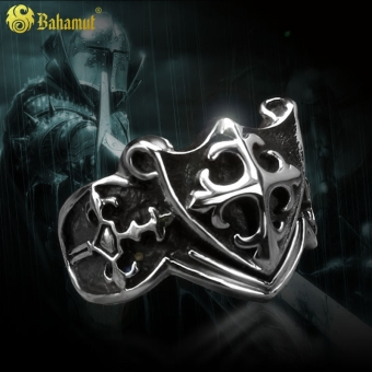 Holy sword KNIGHT cross frame self-defense Ring