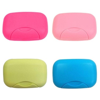 Home Plastic Soap plate Soap Dish Case Holder Container Box forBathroom Travel - intl - 4
