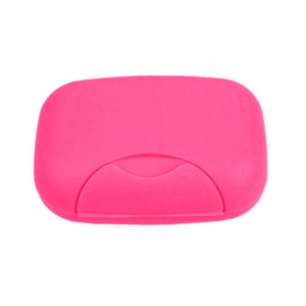 Home Plastic Soap plate Soap Dish Case Holder Container Box forBathroom Travel - intl - 5