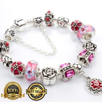 Homhul Authentic - 2017 DIY Bead Bracelet,High Quality Fashion Bracelet Charms (Pandora Copy) HML 04 - PINK