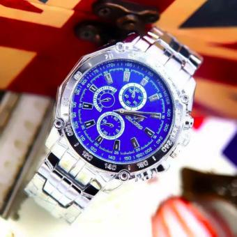 HONG KONG ORLANDO Stainless steel Waterproof Quartz Luxury Men Wrist Watch Blue