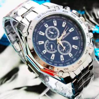HONG KONG ORLANDO Stainless steel Waterproof Quartz Luxury Men Wrist Watch Navy Blue Price Philippines