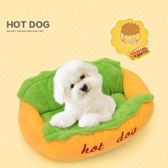 Hot Dog Bed Dog House Pet Sleeping Bag Puppy Nest Pet Cat Sofa (L) - intl - 2