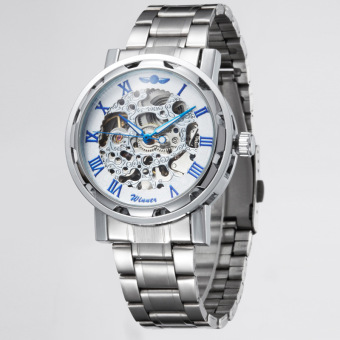 Hot Sale Business Watch Roman Character Stail Steel Strip Automatic Mechanical Watch For Men