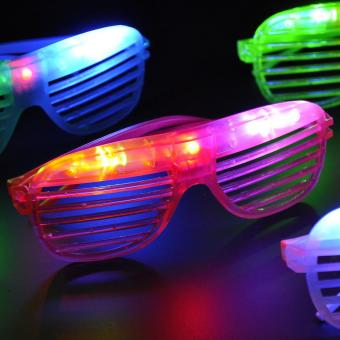 Hot Sale Flashing Party LED Light Glasses for christmas BirthdayHalloween party decoration supplies glow glasses