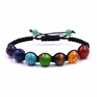 HYHONEY 10MM Natural Stone Bracelets For unisex Chakras Crystal Yoga Beads Bracelet Men women Gifts - intl