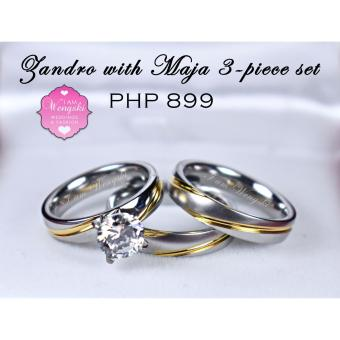 I am Wengski Zandro (Two-Toned) with Maja 3-Piece Wedding Engagement Ring Set