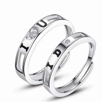 I Love You, I Do Silver Plated Couple Ring Adjustable High Quality Fashion Ring