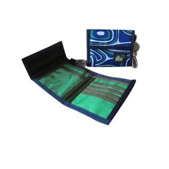 ILLUSTRAZIO Durashield Fashion Wallet Bag (Paint Blue)