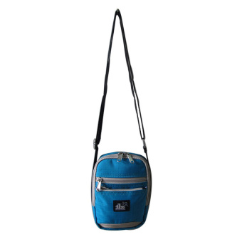 ILLUSTRAZIO Durashield Water Repellant Sling Bag (Light Blue Grey)