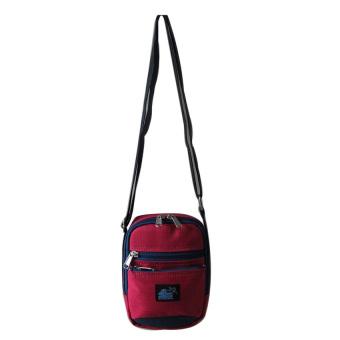 ILLUSTRAZIO Durashield Water Repellant Sling Bag (Red Blue)